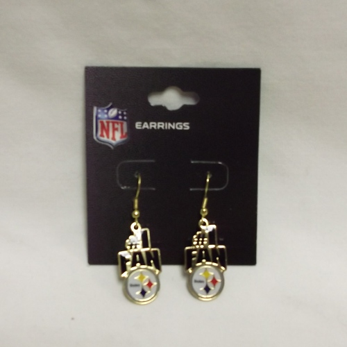 Steeler #1 Fan Earrings